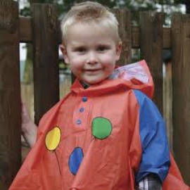 Fastrider Kids Raincape Balloon Orange
