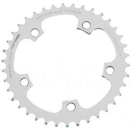 TA Zepher Middle 110PCD 5 Arm Chainring Silver